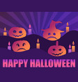 happy halloween october 31st greeting card with vector image vector image