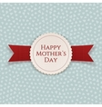 Happy Mothers Day festive Banner with Ribbon vector image vector image