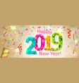 happy new year 2019 banner vector image vector image
