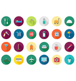 Hotel service round icons set vector image vector image
