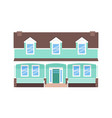 house home facade in flat design vector image