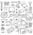 icons on a mathematics theme Hand vector image