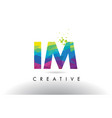 im i m colorful letter origami triangles design vector image vector image