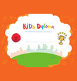 kids diploma or certificate template with hand vector image