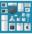 Kitchen appliances set vector image vector image