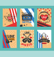 love music festival cards let vector image