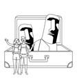 moai statue easter island design vector image