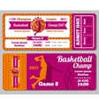 Modern basketball ticket template vector image vector image