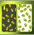 original fruit pattern on phone cover vector image vector image