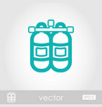 oxygen tank outline icon summer vacation vector image vector image