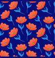 pattern with bright tulips vector image vector image