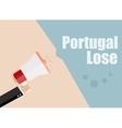 Portugal lose Flat design business vector image vector image