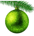 realistic lime christmas ball or bauble with vector image vector image