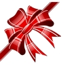 red bow on a white background vector image vector image