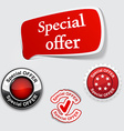 Red set of Special offer labels vector image vector image
