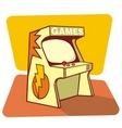 retro games vector image