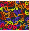 seamless background with numbers eps 8 vector image