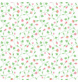 seamless floral pattern with tiny pink flowers vector image vector image