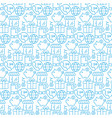 seamless pattern with icons e- commerce items vector image