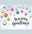 seasons greeting card vector image vector image