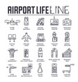 set business and tourist air trips thin line vector image vector image