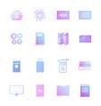 set icons swift sop and swot coronavirus cell vector image