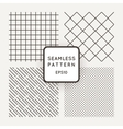 Set of geometric seamless patterns vector image vector image