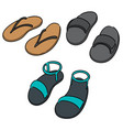 set of slippers vector image