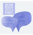 Set of watercolor speech bubbles Decoration and vector image