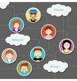 Social Media Cloud Computing Network vector image vector image