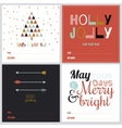 Square Christmas and New Year greeting cards vector image vector image