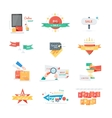 Stickers labels tags set vector image vector image