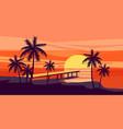 summer holiday season tropical exotic beach vector image