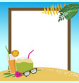 summer holidays on the beach background vector image vector image