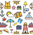 summer items vacation and holidays seamless vector image vector image