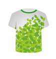 T Shirt Template- Spring leaves vector image vector image