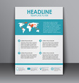 Template flyer with information for advertising vector image vector image