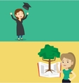 Two educational banners with space for text vector image vector image