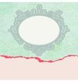 Valentine vintage card vector image vector image