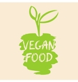 vegan food the growth of vector image vector image