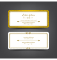 Vintage style invitation card vector image