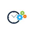 wheel time logo icon design vector image
