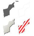 Yuba County California outline map set vector image vector image