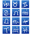 Zodiacal icon set vector image vector image