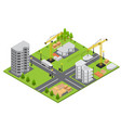 construction building isometric view vector image