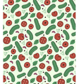 tomato and cucumber pattern vector image