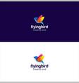 Abstract bird logo design creative sign