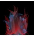 Abstract dark polygonal geometric background vector image