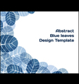 Abstract design template vector image