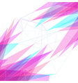 Abstract lines and triangles bright background vector image